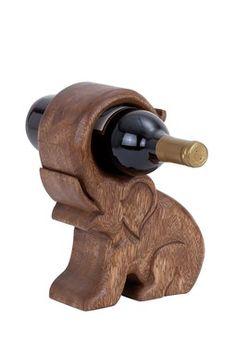 Elephant Wood Wine Holder