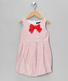 Take a look at this Red Flaura A-Line Dress - Toddler & Girls on zulily today!