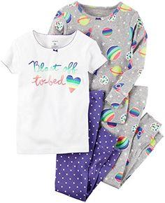 Girls  4 Piece Blast Off To Bed PJ Set Baby Girl Pajamas 0e111b351