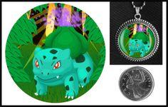 Bulbasaur Pokemon necklace on Etsy for $10.