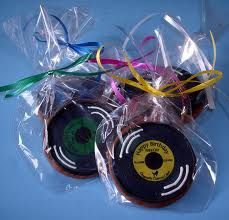 record cookies - fun favor idea for each guest                                                                                                                                                                                 More