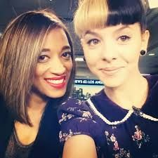 Melanie Martinez with Amanda Brown from the Voice <3<3<3