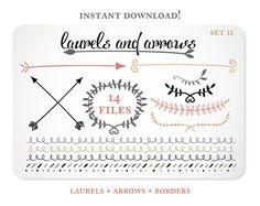 Arrows and Laurels Design Elements