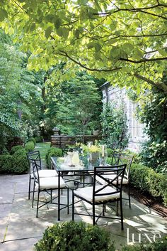 Traditional shady terrace