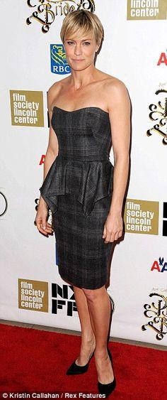 Robin Wright + Tartan Dress
