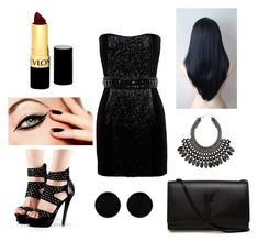 """""""Untitled #60"""" by aurora-ane ❤ liked on Polyvore featuring Balmain, Yves Saint Laurent, AeraVida, H&M and Revlon"""