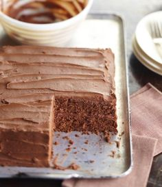 Our Best-Ever Chocolate Cake, with classic Chocolate-Sour Cream Frosting.