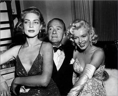 Lauren Bacall Clifton Webb and Marilyn Monroe at Jean Negulesco's party, 1953