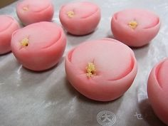 スタッフブログ:寒紅梅(練り切り)  冬の上生菓子
