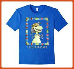 Mens Cleopatrasaur Queen of the Nile Dinosaur T-Shirt XL Royal Blue - Animal shirts (*Partner-Link)