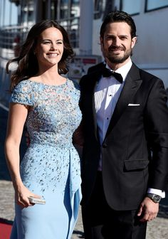 Prince Carl Philip of Sweden and Sofia Hellqvist arrive for their pre-wedding Dinner the night before their royal wedding on June 12, 2015 in Stockholm, Sweden.