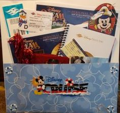 Disney Cruise Pocket of Souvenirs for Scrapbook.  Pockets are great to hold tickets, sea passes, and other special items.