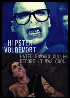 Hipster Voldemort...hahaha