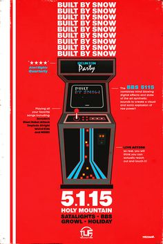 """Check out my @Behance project: """"Built By Snow - Gig Poster - Austin TX"""" https://www.behance.net/gallery/35712409/Built-By-Snow-Gig-Poster-Austin-TX"""