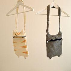 iPad case, kindle case, shoulder bag Hungry Cat