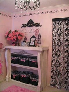 pink and black dressing room - Google Search