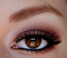 Rose gold eye - using woodwinked, girlie and cranberry by MAC