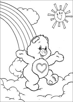 300 Best Care Bears Coloring Pages images | Care bears, Coloring ...