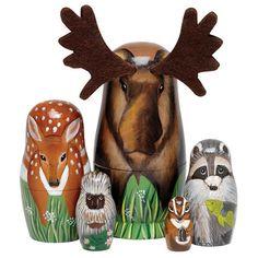 Nesting Dolls Woodland Creatures Animal Set #nestingdolls