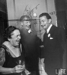 Elsa Maxwell and Salvador Dalí.