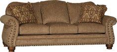 Mayo Furniture 7890F Fabric Sofa - Coach Moss