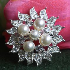 Find More Brooches Information about Silver Tone Crystal Rhinestone Nice Faux Pearl Brooches Wedding Bouquet XD 1091,High Quality brooch base,China brooch chain Suppliers, Cheap brooch button from Gem-Mart Store on Aliexpress.com