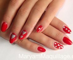 """Would you try Valentine's """"Hearts"""" Nail Art by Maryam A? Vote on Preen.Me!"""