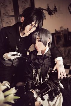 Sebastian Michaelis and Ciel Phantomhive cosplay / Kuroshitsuji/Black Butler Ciel Cosplay, Cosplay Boy, Epic Cosplay, Amazing Cosplay, Cosplay Costumes, Anime Cosplay, Black Butler Cosplay, Black Butler 3, Ciel Phantomhive Cosplay