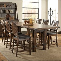 Found it at Wayfair - 7 Piece Counter Height Dining Set