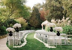 Black and White Formal Outdoor Wedding | blog.theknot.com