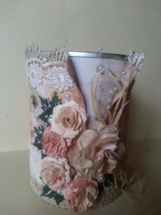 Vintage altered tin can
