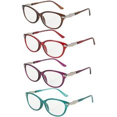 ca191441986bb Amazon.com  Pack of 4 Women s Reading Glasses - Stylish