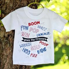 Boom! Snap! Bang! Learn how to make this fireworks t-shirt using glitter HTV. It's the perfect outfit for any Fourth of July celebration!