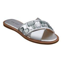 754974488d58 Our Nawty open-toe slide sandals feature a crisscross vamp replete