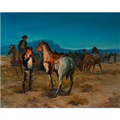 George Phippen - The Crack of Dawn on a Cow Ranch