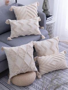 Beige Cushions, Boho Cushions, Cream Cushions, Boho Throw Pillows, Handmade Pillows, Decorative Pillows, Handmade Pillow Covers, Beige Pillow Covers, Shabby Chic Decorating
