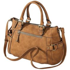 Merona Timeless Collection Satchel Handbag with Crossbody Strap