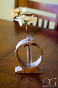 Wooden Curves Test Tube Vase by District31 on Etsy, $32.00 i like the design hall table?