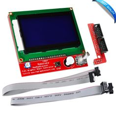 3D Printer kit 12864 LCD Graphic Smart Display Controller module with connector adapter & cable for RepRap RAMPS 1.4 for Arduino #Affiliate
