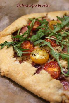 Galette z szynką parmeńską i pomidorkami koktajlowymi Parma Ham, Gouda, Cherry Tomatoes
