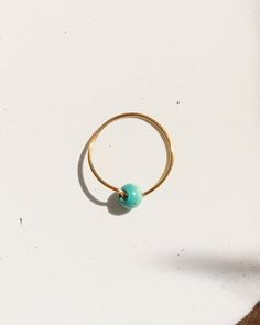 Ring wood bead colorful delicate