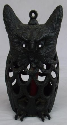 Vintage 70s Cast Iron Owl Hanging Candle by MuttleyCrueVintage, $110.00