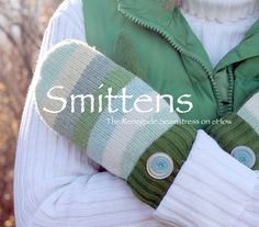 """Old Sweater Reuse Ideas You Didn t See! Sweater to Mittens = """"Smittens"""""""