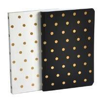Cuaderno.diseño Lunares Set X 2. Hojas Blancas.organizza