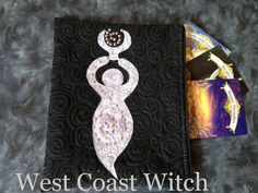 Purple Spiral Goddess Quilted Tarot Pouch Bag by WestCoastWitch