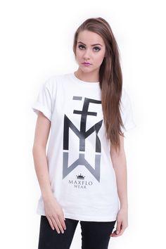 T-shirt Element biało-szary <3