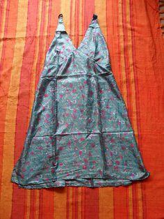 1 Seidenkleid aus Indien Kleid Hippiekleidung Kleidung Nr.49 Seide