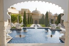 The Oberoi Udaivilas in Udaipur, India, has been voted the world's best hotel in a recent reader survey