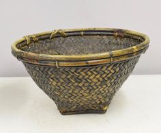 Basket Bowl Woven Rattan Bamboo Basket Ifugao by WorldofBacara