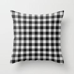 Buy Sleepy Black and White Plaid by RichCaspian as a high quality Throw Pillow. Worldwide shipping available at Society6.com. Just one of millions of products available. #plaid #blackandwhite #pattern #checkered #pillow #case #cover #throwpillow #pillows #homedecor #decor #bedding #livingspace